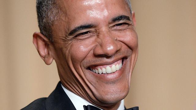 Barack Obama at White House Correspondents dinner. (Photo: EPA)