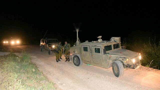 Forces at scene of attack where four terrorists tried to infiltrate Israel from north (Photo: Avihu Shapira) (Photo: Avihu Shapira)