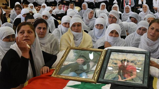 Mourning the brothers in Majdal Shams (Photo: Avihu Shapira)