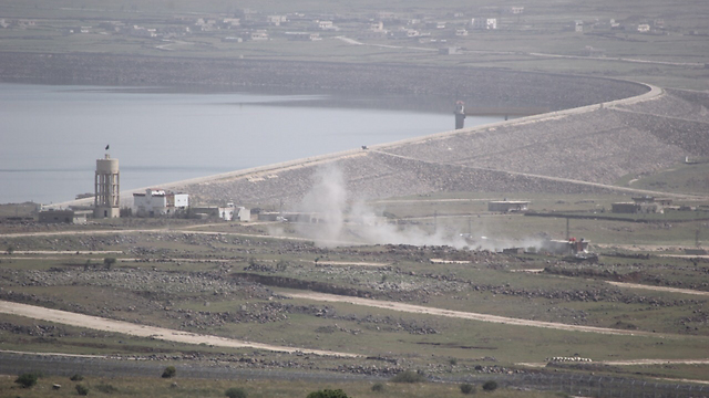 The battles in Syria are clearly visible from Israel (Photo: Eli Segal) (Photo: Eli Segal)