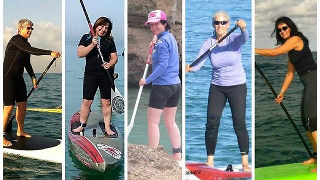 מימין לשמאל: טל, אורנה, שירלי, מאירה ודנדי. מאושרות על המים (באדיבות supaway) (באדיבות supaway)