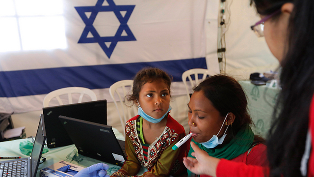 Inside the Israeli field hopsital in Kathmandu. (Photo: AP) (Photo: AP)