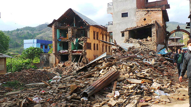 Rubble of collapsed houses in Nepal (Photo: Itay Blumenthal) (Photo: Itay Blumenthal)