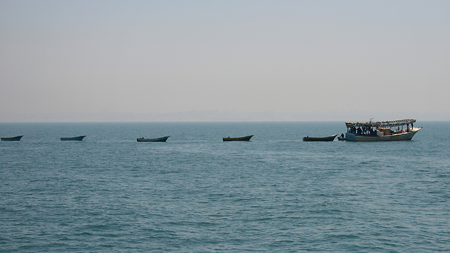 Fisherman boats apprehended by the IDF in Gaza (Photo: IDF Spokesperson's Unit)