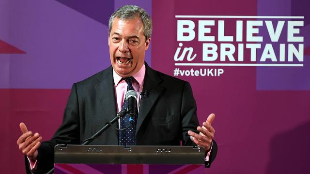 כל קול שיגיע אליו הוא קול אחד פחות לשמרנים. נייג'ל פרג' ממפלגת העצמאות (צילום: AP)