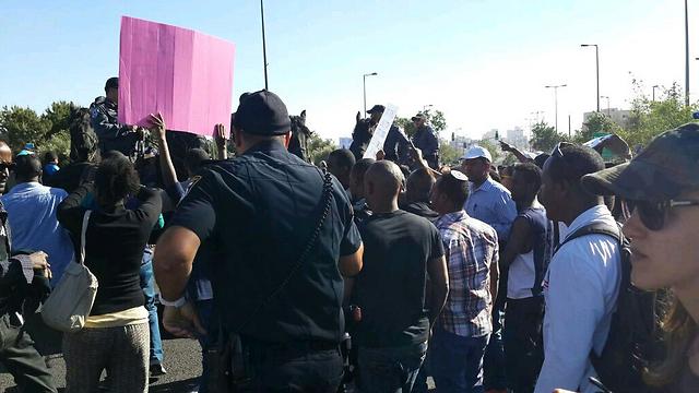 הפגנת מחאה של יוצאי אתיופיה. ארכיון