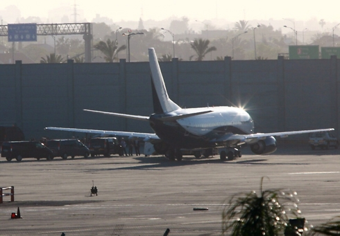 Williams' private plane lands in Israel (Photo: Sivan Farag)