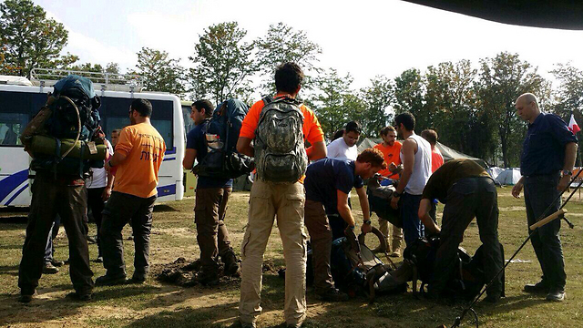 Friends of missing Israeli Or Asraf prepare for searches  (Photo: Flyeast Nepal) (Photo: Flyeast Nepal)
