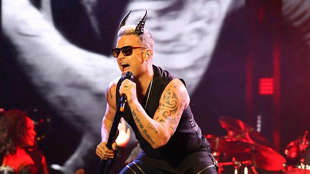 Robbie Williams in Tel Aviv (Photo: Motti Kimchi)
