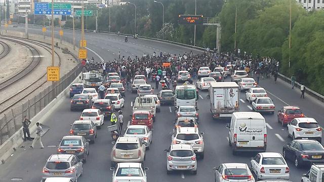 Ethiopian protests against racism (Photo: Gilad Morag)