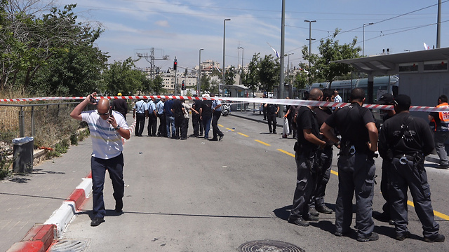 Security forces at the site of the incident in Jerusalem (Photo: Gil Yohanan) (Photo: Gil Yohanan)