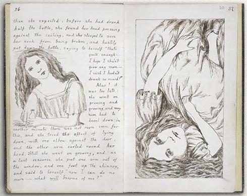 כתב היד של גרסת המחברת, מאת לואיס קרול ()