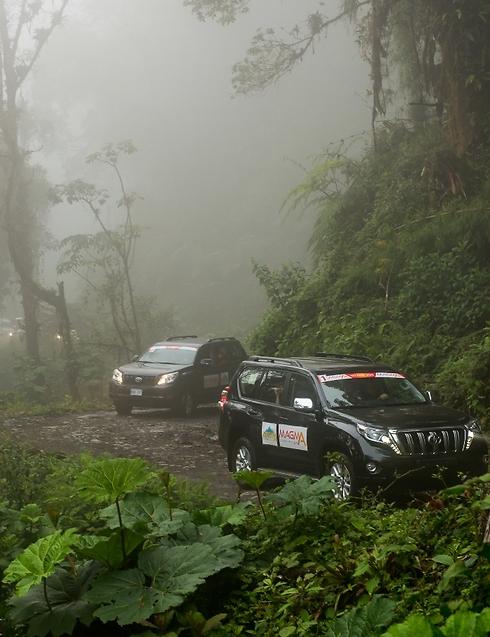 אז אני נוהגת. עד למעלה. אל פסגת הר הגעש מרטוני (צילום: איה בן עזרי )