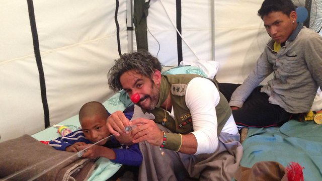 In action at the IDF field hospital in Nepal