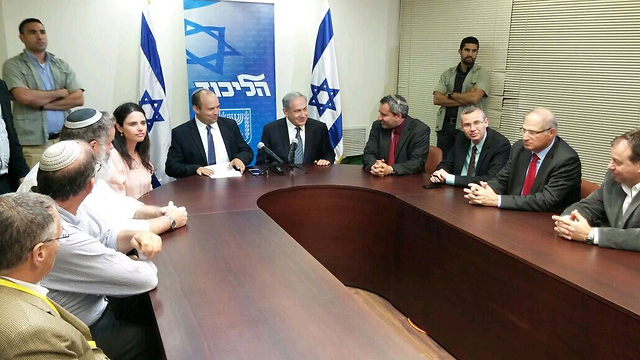 Bayit Yehudi and Netanyahu's Likud party announce coalition agreement.
