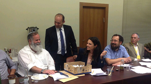 Bennett and Shaked at coalition talks