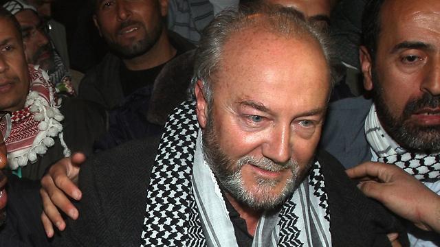 Galloway visiting Gaza (Photo: AP) (Photo: AP)