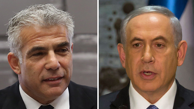 Yesh Atid leader Yair Lapid, left, and Prime Minister Netanyahu (Photos: EPA, Gil Yohanan) (Photo: EPA, Gil Yohanan)