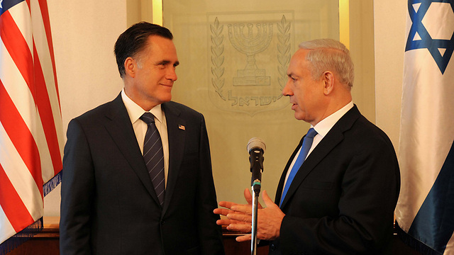 Netanyahu and Romney. Inserting Israel into the 2012 elections failed to make the impact Republicans hoped for. (Photo: Avi Ohayon/GPO)