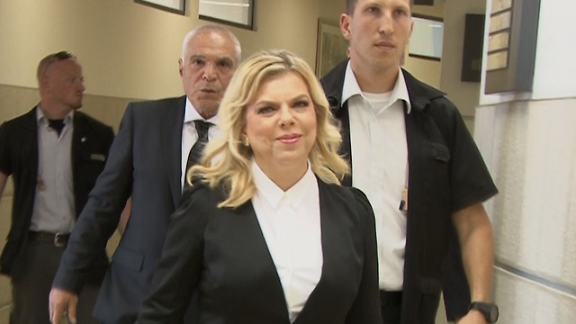 Sara Netanyahu in court (Photo: Eli Mendelbaum) (Photo: Eli Mendelbaum)