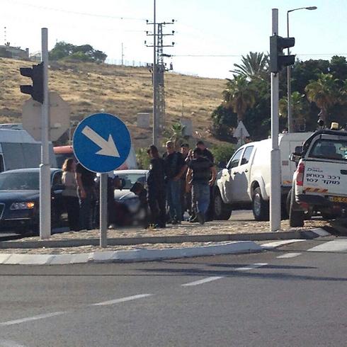 Scene of attack near Mishor Adumim