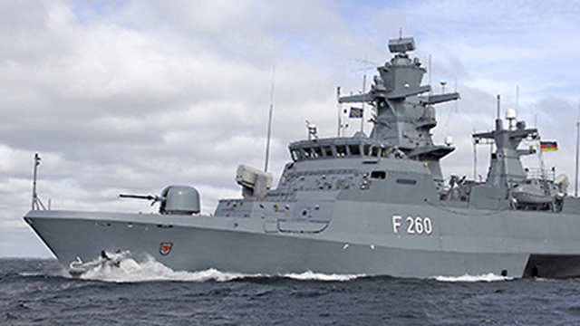 A corvette warship, the kind bought by Israel