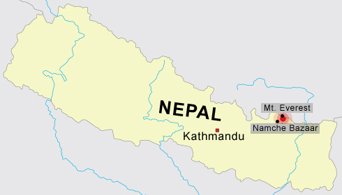 The epicenter was located near Namche Bazaar in eastern Nepal.