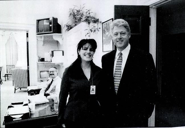 המתמחה. ביל קלינטון ומוניקה לוינסקי (צילום: Gettyimages)