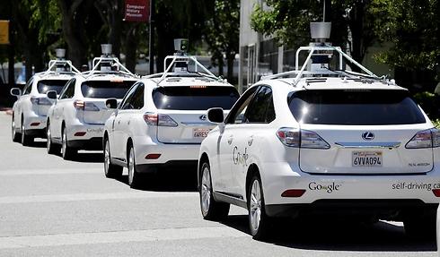 """המכוניות ללא נהג של גוגל. 11 תאונות, """"לא באשמתן"""" (צילום: AP) (צילום: AP)"""