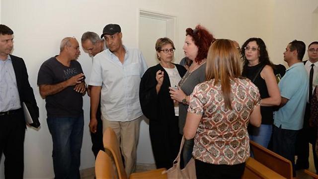 העובדים בדיון בבית המשפט (צילום: הרצל יוסף) (צילום: הרצל יוסף)