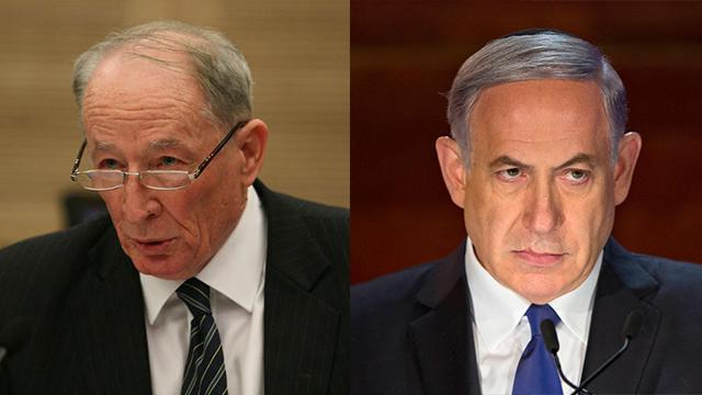 ראש הממשלה נתניהו והיועץ המשפטי וינשטיין (צילום: גיל יוחנן, AP) (צילום: גיל יוחנן, AP)