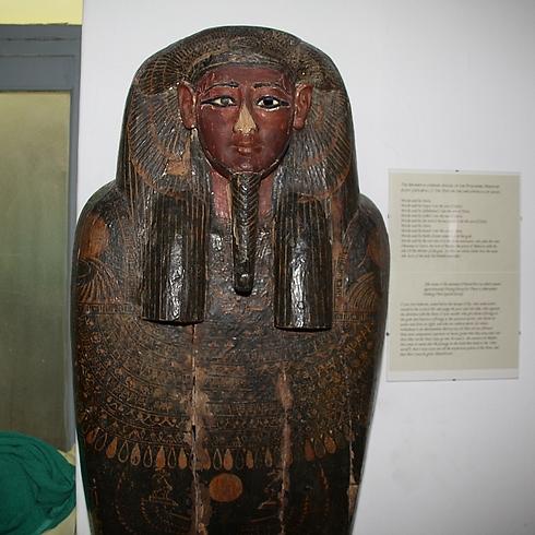 מומיה מצרית (צילום: רון פלד) (צילום: רון פלד)