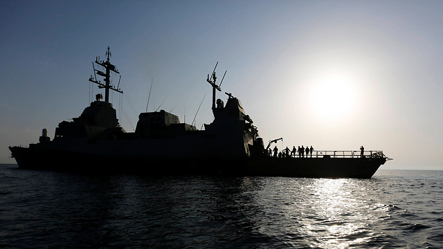 An Israeli Navy ship in international waters during a joint exercise with Greece. (Photo: Reuters) (Photo: Reuters)