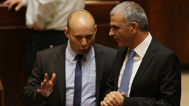 Bennett (L) and Kahlon (Photo: Olivia Pitosi)