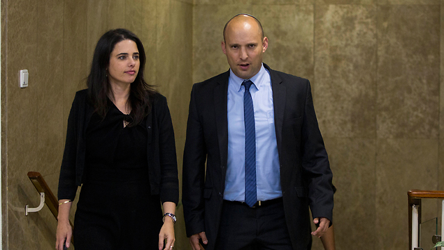 Shaked with her boss, Bayit Yehudi leader Naftali Bennett. (Photo: Flash90) (Photo: Flash90)