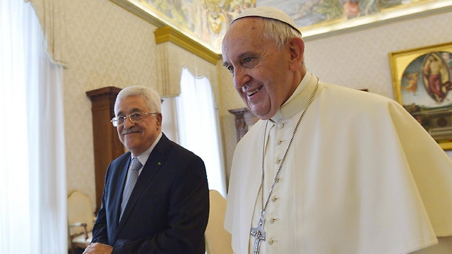 Francis and Abbas in 2015 (Photo: EPA)