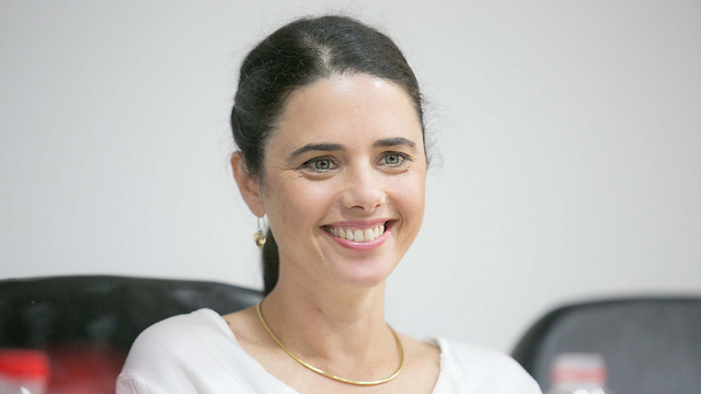 Shaked enters the Justice Ministry (Photo: Noam Moskovich)