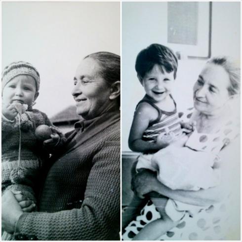 סבתא טילה שלי ואני קטנטונת  (צילום: מיכל וקסמן) (צילום: מיכל וקסמן)