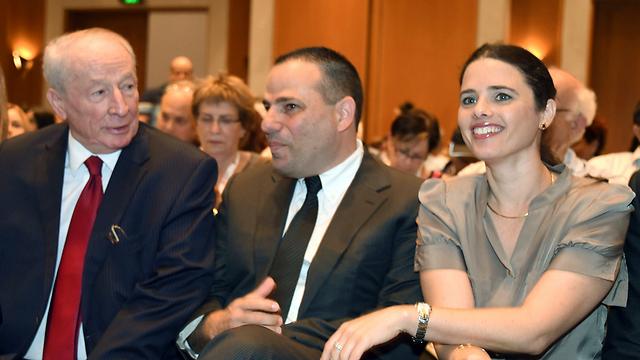 """שקד, ברזילי ווינשטיין באילת (צילום: יאיר שגיא """"ידיעות אחרונות"""") (צילום: יאיר שגיא"""