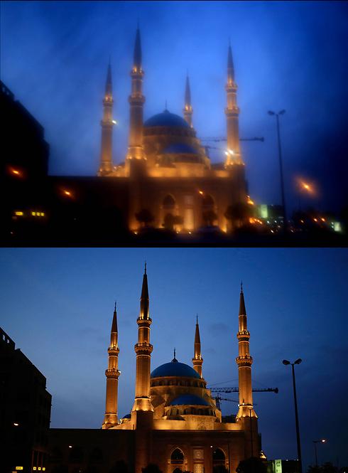 מבעד לניקאב ובלעדיו. מסגד אל-אמין בביירות שבלבנון (צילום: AP) (צילום: AP)