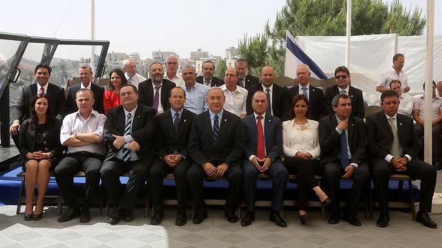 חברי הממשלה בישיבתם הבוקר במוזיאון ישראל (צילום: מרק ישראל סלם, ג'רוזלם פוסט) (צילום: מרק ישראל סלם, ג'רוזלם פוסט)