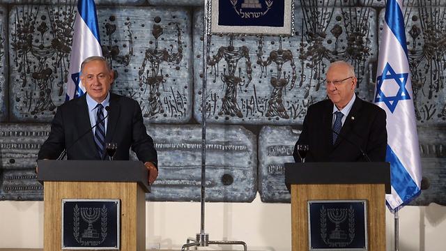 President Rivlin and Prime Minister Netanyahu (Photo: Gil Yohanan)