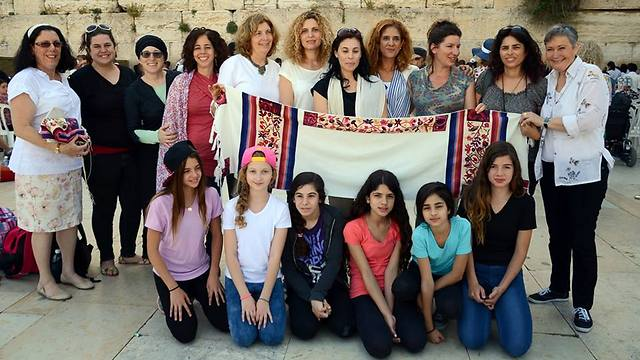 The Women of the Wall at the Western Wall on Tuesday (Photo: Yael Gilboa)