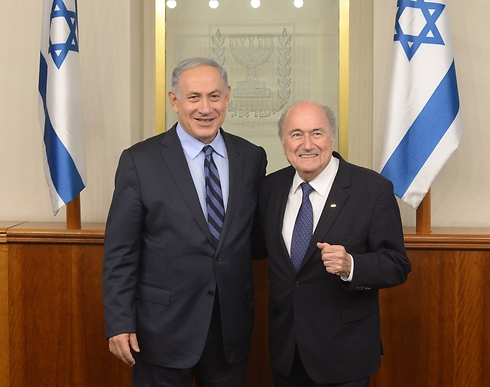 Netanyahu and Blatter (Photo: GPO)