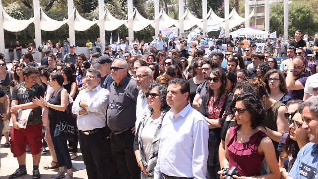 Joint Arab List leader Ayman Odeh at the Nakba Day ceremony (Photo: Motti Kimchi)