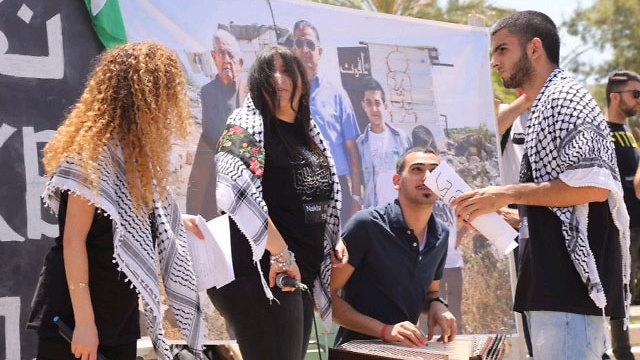 Nakba Day ceremony at Tel Aviv University (Photo: Motti Kimchi)