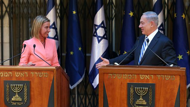 EU High Representative for Foreign Affairs Federica Mogherini and Prime Minister Benjamin Netanyahu in Jerusalem (Photo: Amit Shabi)