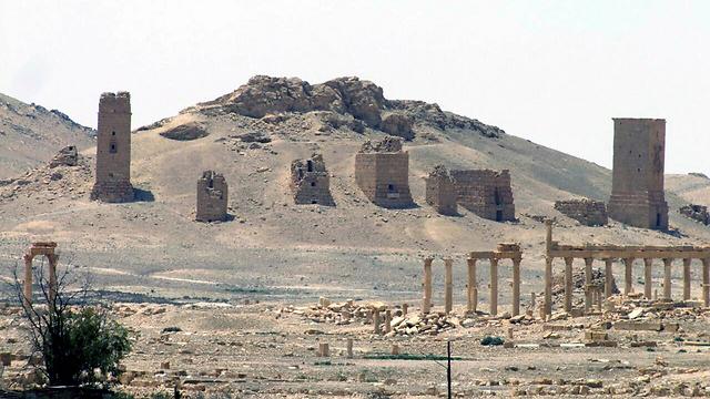 העיר הסורית העתיקה בידי ארגון הטרור הסוני. תדמור (צילום: AP) (צילום: AP)