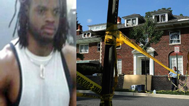 בית המשפחה שבו אירע הרצח, משמאל: החשוד במעשה (צילום: AFP) (צילום: AFP)