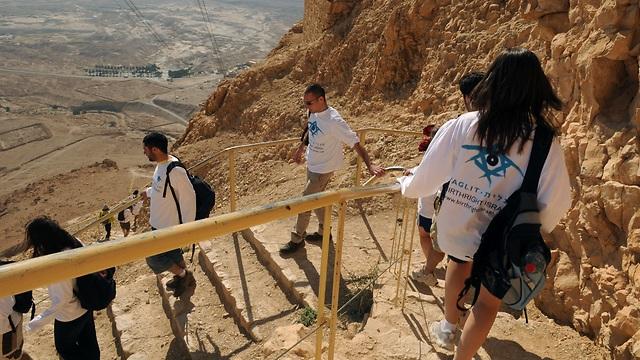 Taglit-Birthright participants at Masada (Photo: Taglit-Birthright PR)